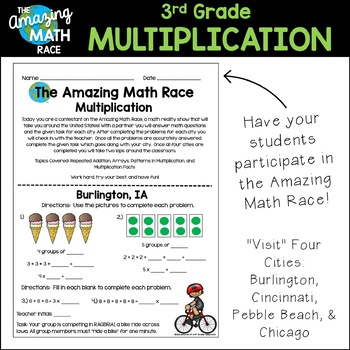 3rd Grade Multiplication Review (Amazing Math Race Series)
