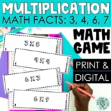 3rd Grade Multiplication Scoot - Multiply by 3, 4, 6 & 7