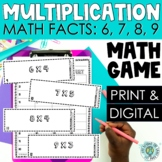 3rd Grade Multiplication Scoot - Multiply by 6, 7, 8, & 9