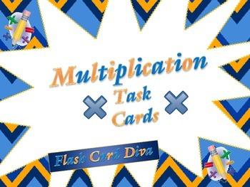 3rd Grade Multiplication Task Cards