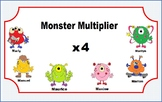 Multiplication Task Cards for Math Center (x 4s) for 3rd grade