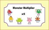 Multiplication Task Cards for Math Center (x 5s) for 3rd grade