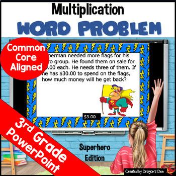 3rd Grade Multiplication Word Problem PowerPoint