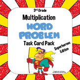 3rd Grade Multiplication Word Problem Task Card Pack