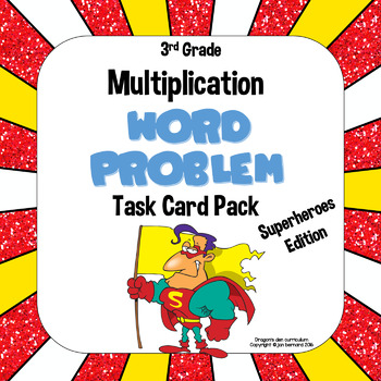 3rd Grade Multiplication Word Problem Task Card Pack
