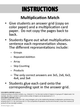 3rd Grade Multiplication and Division Hands-On Activities