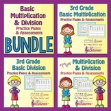 3rd Grade Multiplication and Division Practice Pages BUNDLE / CCSS-Aligned