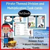 3rd Grade Multiplication and Division Pirate-Themed Task Cards