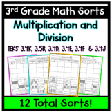 3rd Grade Multiplication and Division Sorts