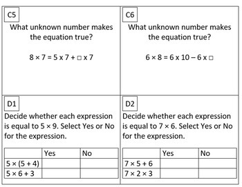 3rd Grade Module 3 Multiplication/Division Task Cards for SBAC - Editable