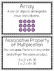 3rd Grade Multiplication and Division Vocabulary Cards