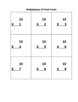 3rd Grade Multiplying by 10 Common Core Math Unit 3.NBT.3