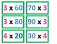 3rd Grade Multiplying with Zeros Game for Common Core