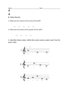 3rd Grade Music Assessment
