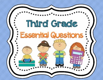 3rd Grade My Math Essential Questions