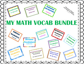 3rd Grade My Math Vocabulary Bundle