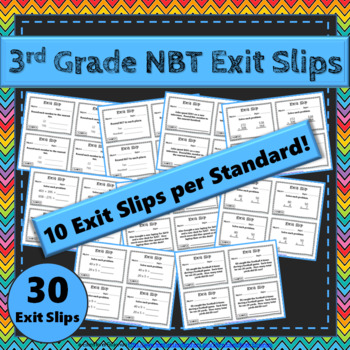3rd Grade NBT Exit Slips: Number & Operations in Base Ten Exit Slips 3rd Grade