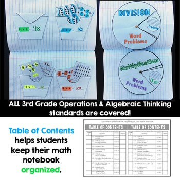 3rd Grade Multiplication and Division Interactive Notebook
