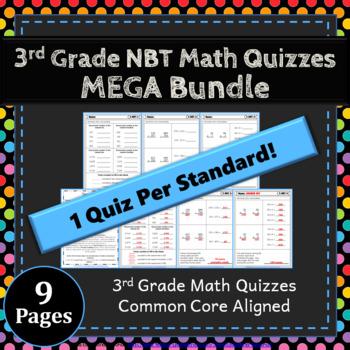 3rd Grade NBT Quizzes: 3rd Grade Math Quizzes, Number & Operations ...