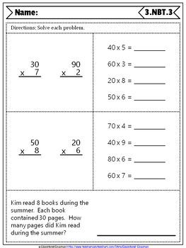 3rd Grade NBT Quizzes: 3rd Grade Math Quizzes, Number & Operations in Base Ten