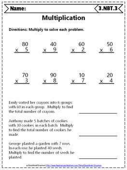 3rd Grade NBT Worksheets: 3rd Grade Math Worksheets, Numbers in Base Ten