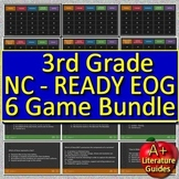 3rd Grade NC READY EOG Test Prep Math and Reading Game Bundle 6 PowerPoint Games