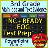 NC Reading EOG Test Prep for 3rd Grade - Main Idea and Text Evidence Review Game