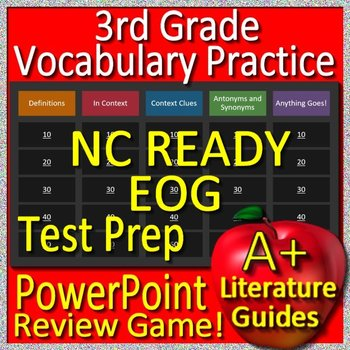 3rd Grade EOG Test Prep NC READY  - Reading Vocabulary Review Game