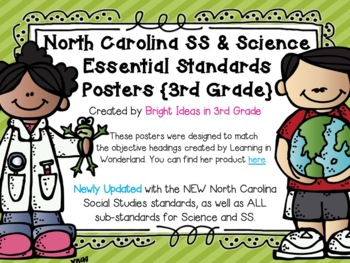3rd Grade NC Science & Social Studies Objectives {Melonheadz Edition}