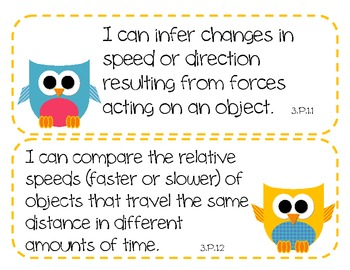 "3rd Grade NC Science and Social Studies ""I Can"" Statements - OWL THEME"