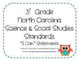 "3rd Grade NC Science and Social Studies ""I Can"" Statements"