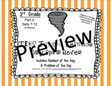 3rd Grade NEW TEKS TX Tornado Spiral Pt 2 (Set 7 only) FREEBIE! Be STAAR Ready