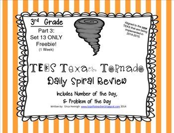 3rd Grade NEW TEKS TX Tornado Spiral Review Pt 3-Set 13 Fr