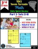 3rd Grade NEW TEKS Texas Tornado Spiral Review  Pt 3 (Sets 13-18) Be STAAR Ready