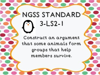 3rd Grade NGSS 3-LS2-1 Animals Live in Groups