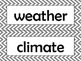 3rd Grade NGSS Science Vocabulary Cards: Weather & Climate