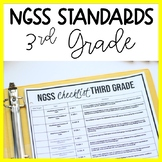3rd Grade NGSS Standards Checklist and Planning | Science Teacher Binder