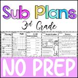 3rd Grade - NO PREP - Sub Plans