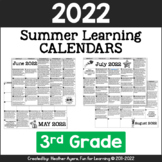 2019 3rd Grade NO PREP Summer Calendars