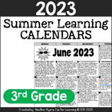 2021 3rd Grade Summer Learning Calendars