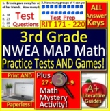 3rd Grade NWEA MAP Math Test Prep and Games Bundle Spiral Review RIT 171 - 220