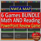 3rd Grade NWEA MAP Test Prep Math and Reading Games Bundle - 6 PowerPoint Games