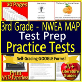 3rd Grade NWEA MAP Reading Test Prep Print and SELF-GRADING GOOGLE FORM TESTS