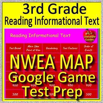 3rd Grade NWEA MAP Reading Test Prep GOOGLE GAME Reading Informational Text ELA
