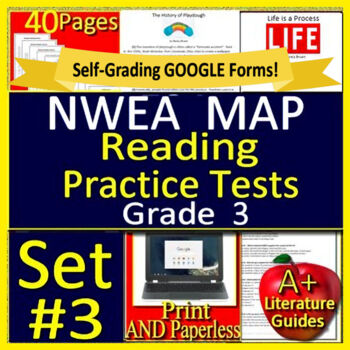 3rd Grade Nwea Map Reading Test Prep Practice Tests Print And