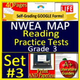 3rd Grade NWEA MAP Reading Test Prep Practice Tests - Print and Paperless!