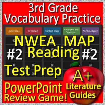 3rd Grade Nwea Map Test Prep Reading Vocabulary Review Game 2 Tpt