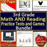 3rd Grade NWEA MAP  Reading and Math Prep Practice Tests and Games Bundle!