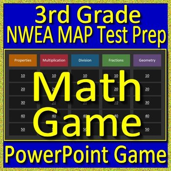 3rd Grade NWEA MAP Math Test Prep Review Game test practice