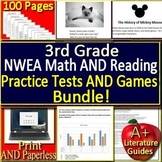 3rd Grade NWEA MAP Test Prep Math and Reading Practice Tests and Games Bundle!